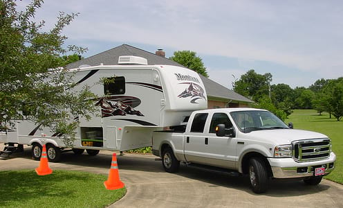 Backing a Fifth Wheel into an RV site