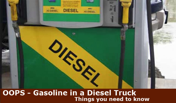 putting gas in a diesel truck by mistake