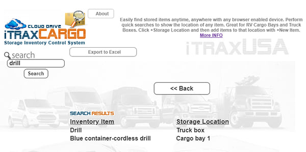 Fifth Wheel Storage Organizer app