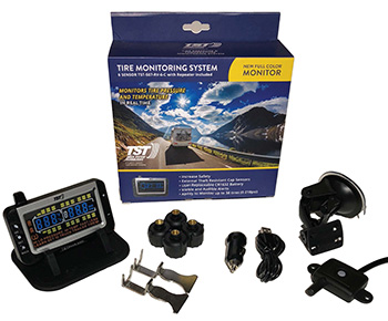 TST Truck Fifth Wheel Greyscale display Tire Pressure Monitoring System TPMS